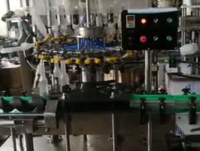 18头全自动翻转式冲瓶机-负压灌装机