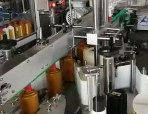 圆瓶全自双面不干胶贴标机